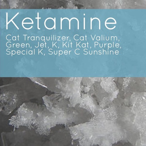 image of chunky white ketamine with text