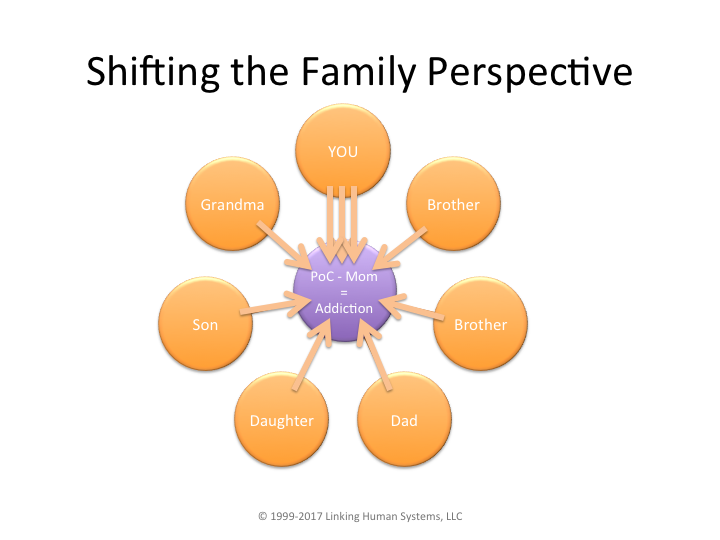 diagraming of shifting the family perspective focus on POC